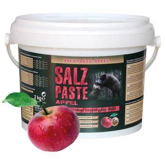 Salzpaste mit Apfelaroma / Wildlockmittel im 2,5 kg Eimer   / TOP - EFFEKT AN DER SALZLECKE UND  KIRRUNG Art. Nr.HU- 94004